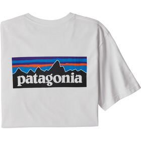 Patagonia P-6 Logo Pocket Ansvarlig-tee Herrer, hvid